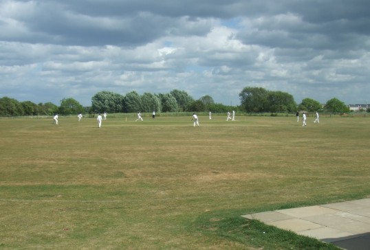 Eaton Socon Cricket Club playing on a Sunday afternoon in May 2011