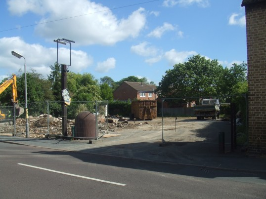 Site of former Merry Boys Public House in Eynesbury in May 2011