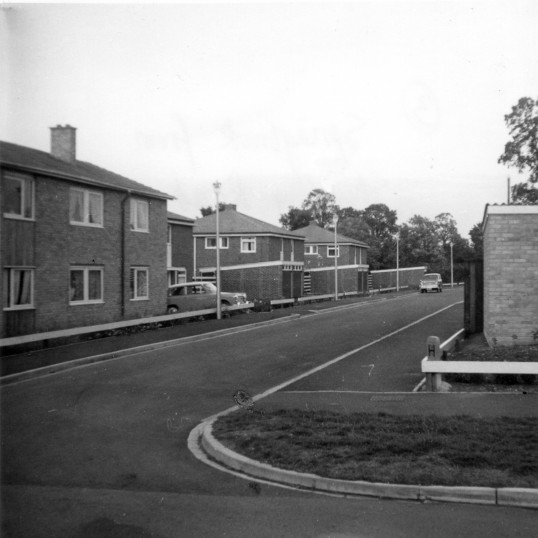 Springbrook from Shirdley Road in Eynesbury when they were new, in 1963
