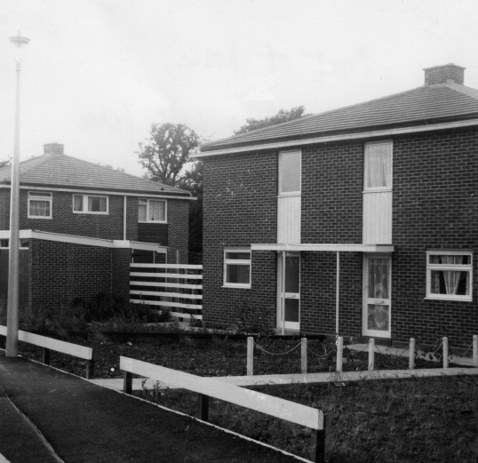 Houses in Springbrook in Eynesbury when they were new, in 1963