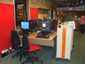 Computers in the St Neots lending library in November 2010 before the library was closed and refitted