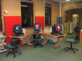 Computers in the childrens lending library at St Neots Library in November 2010, before being refitted