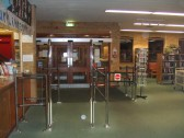 Entrance and exit to St Neots library before being refitted