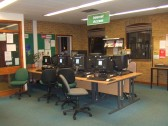 Computers in the St Neots reference library in November 2010, before the library was refitted