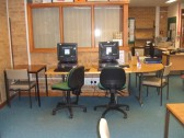Computers in the St Neots reference library in November 2010 before the library was refitted