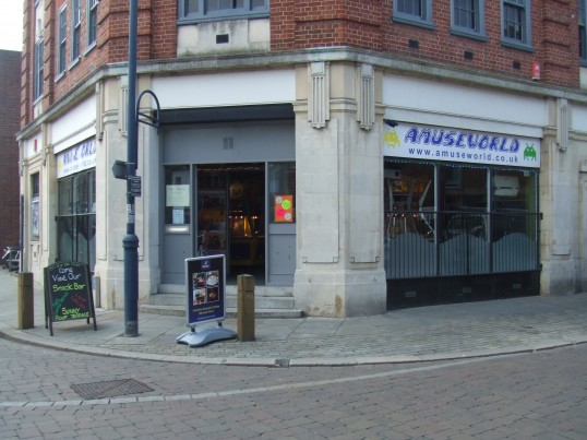Amuseworld entertainments in the former Job Centre on St Neots Market Square in April 2011