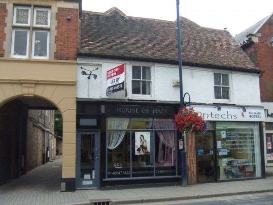 House of Hair and 'Antechs' in St Neots High Street, in August 2011