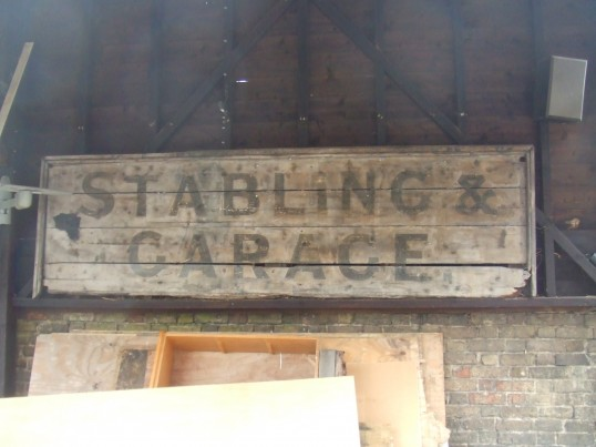 Stabling notice at The Wrestlers in New Street, St Neots, in August 2011, before the notice is removed