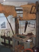 A display about thatching in St Neots Museum in New Street in August 2011