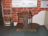 A set of scales in one of the displays in St Neots Museum in New Street in August 2011