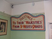 A message from the quads in St Neots Museum in New Street
