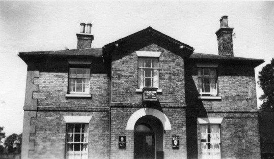Station Hotel at St Neots Railway Station in the early 1950s