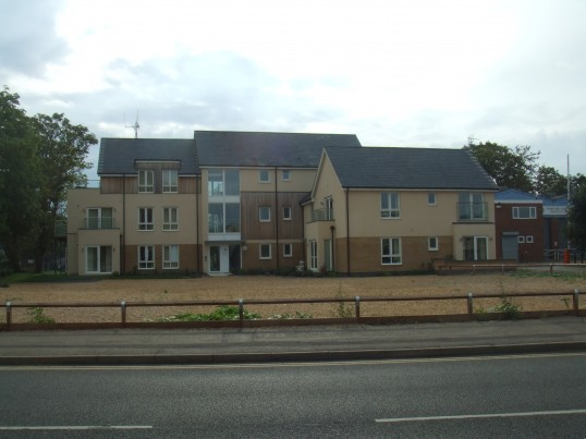 New houses on the former site of Marshalls Garage in Huntingdon Street, St Neots in August 2011