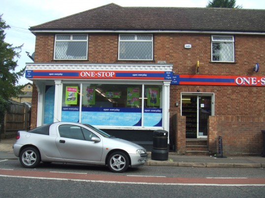 One Stop Stores in Eaton Ford in August 2011, formerly Eaton Ford Stores in St Neots Road