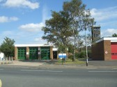 Ambulance and Fire Station in Huntingdon Street, St Neots in August 2011