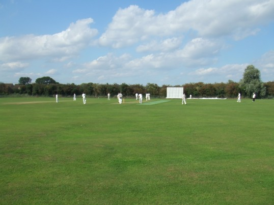 Eaton Socon Cricket Club on Sunday afternoon, off Peppercorns Lane, Eaton Socon in August 2011