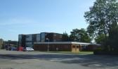 Back entrance to Longsands School, off Kings Rd in St Neots in August 2011