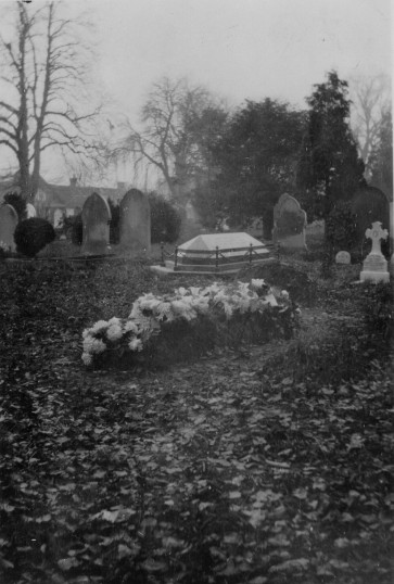 Mrs Cotton's grave in Eaton Socon Churchyard in 1929 (Mrs Cotton of Cotton and Bamfords well known shop on Eaton Socon Green)