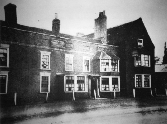 The White Horse on the Great North Rd in Eaton Socon, around 1890