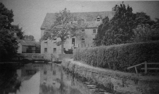 Jordan and Addingtons Mill on the River Great Ouse in Eaton Socon in the 1930s