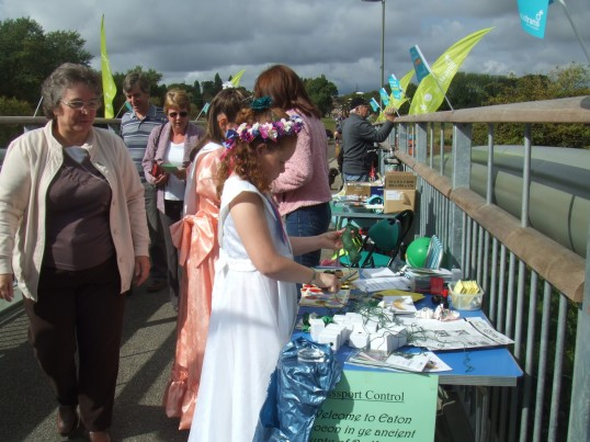 Passport control at the Willow Bridge Fun Day on 18th September 2011