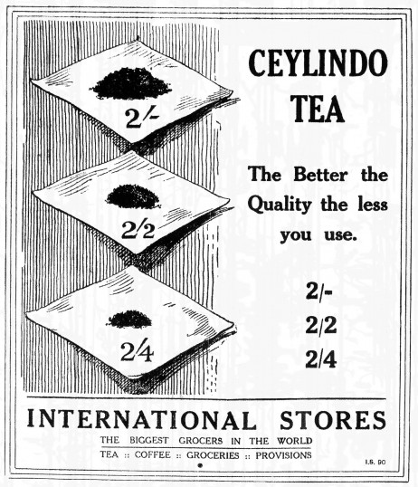 International Stores, High Street, St Neots - advert in the St Neots Advertiser - February 1917