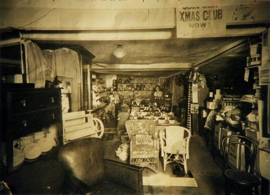 Cotton and Bamford's shop on Eaton Socon Village Green, about 1935