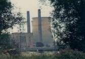 Little Barford Power Station in 1989 before the towers were blown up