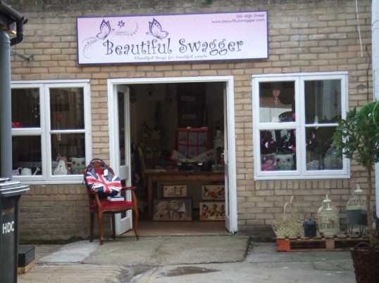 Beautiful Swagger shop on the south side of St Neots High Street in October 2011