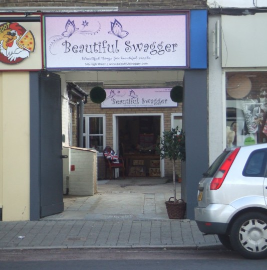 Beautiful Swagger shop just off St Neots High Street, in October 2011