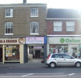 Beautiful Swagger shop just off St Neots High Street, between 'Hotspot Pizza and Chicken' and 'Oxfam' in October 2011