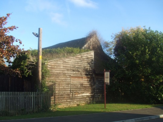 A barn at Crosshall Manor, 516 Great North Road in October 2011. This is about to be altered into a house.