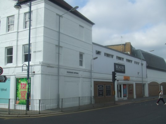 Beales shop in Huntingdon Street, St Neots, formerly Westgate Stores, part of the Co-op chain of shops, in October 2011