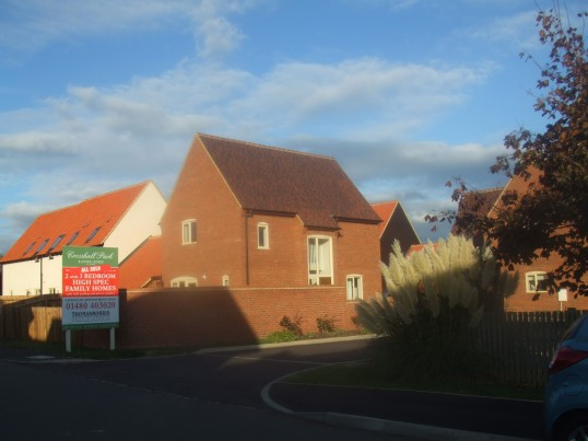 The new houses in Crosshall Park next to Crosshall Manor in Eaton Ford in October 2011