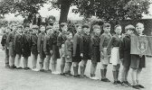 St Neots Church of England Boys School PT Display Team, about 1954, photo from Oscar Chuter