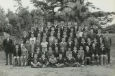 School photo of the boys at St Neots Church of England Boys School around 1958/1959 taken in the school orchard (photo from Oscar Chuter)