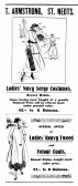 Advert for Ladies coats at T. Armstrong, St Neots from St Neots Advertiser, October 1916