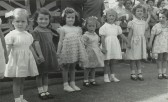 Some entrants for the 'Carnival Princess' in the 1953 St Neots Carnival (photo from Oscar Chuter)