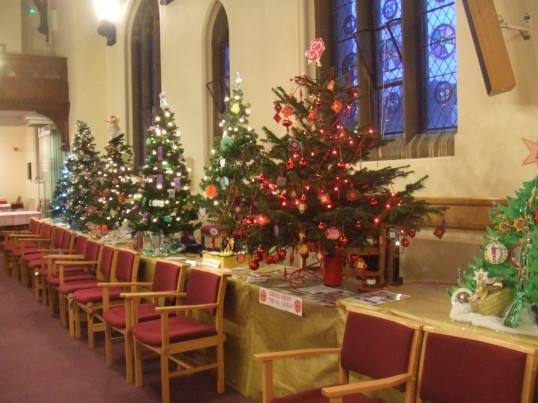 United Reformed Church, St Neots - Christmas Tree Festival in December 2011