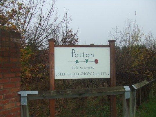 Potton Homes Sign in Mill Lane, St Neots in November 2011