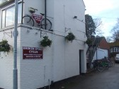 Broken Spoke Cycles shop at the former Andersons Butchers shop in Eaton Socon, new in December 2011