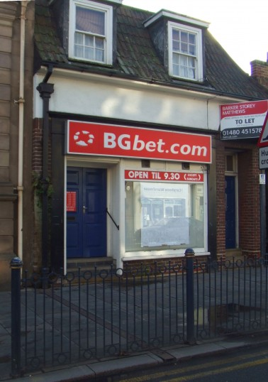 BG Bet shop in St Neots Market Square has moved elsewhere in January 2012