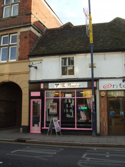 The House of Hair changed it's name to 'The Boudoir' in January 2012, St Neots High Street