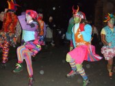 Gog Magog Molly Dancers at the Plough Monday Celebrations in Eaton Socon in January 2012