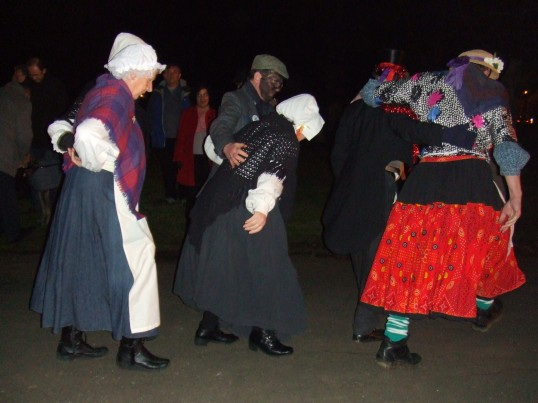 The Hunts Molly Dancers at the Plough Monday celebrations at Eaton Socon in January 2012