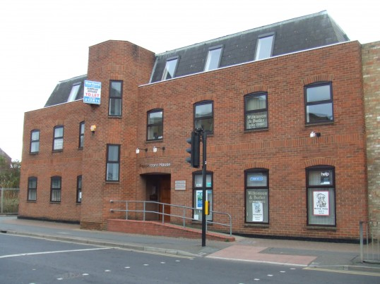 Peppercorn House in Huntingdon Street, St Neots, home of the Wilkinson and Butler Solicitors, in January 2012