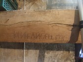 Little Paxton Church, St James, John Angell etched his name on a beam in the tower in 1711