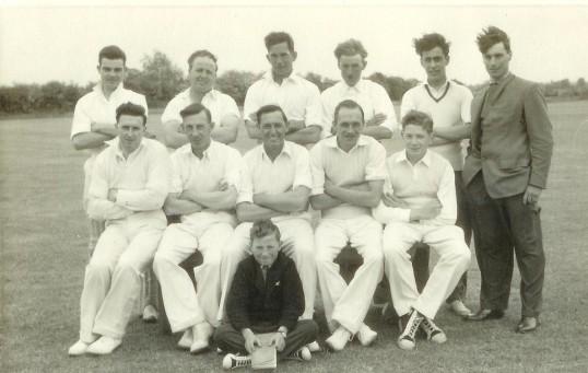 Little Barford Cricket Team in 1958 (photo from Oscar Chuter)