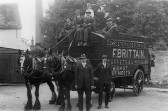 Brittains Furniture Removals with a horse drawn cart in 1920 - mothballed during WW1 and repainted after the war after Frank was demobbed