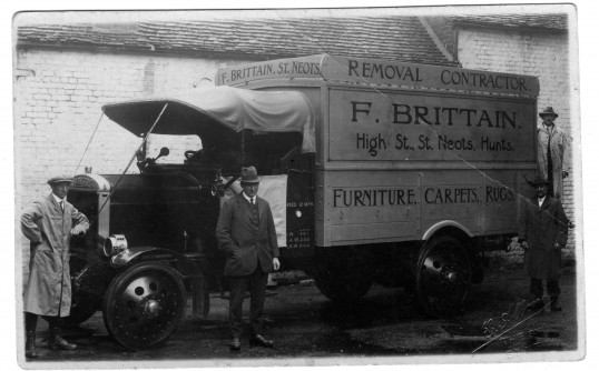 Brittains Furnishers Lorry   Ex WW1 Thorneycroft Gun Hauler Chassis Bought  At Auction In 1921. Body Built By Archie. Speed Limited To 12mph